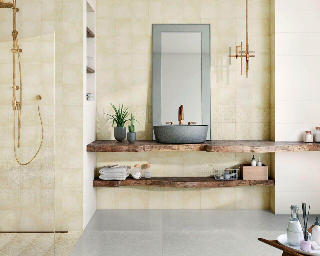 Tiles Are Suitable For A Small Bathroom