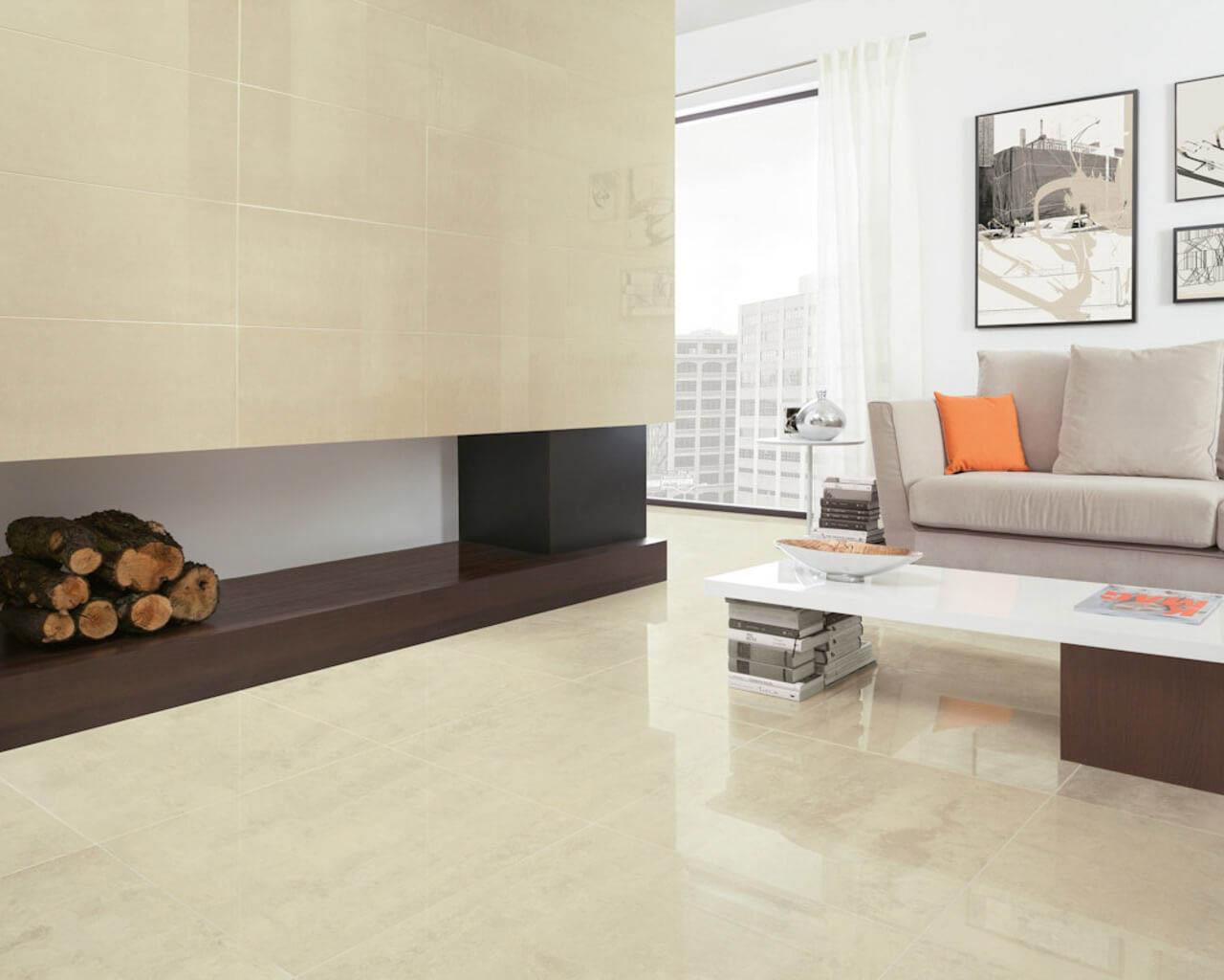 Ponadczasowe piękno ceramicznego piaskowca w klasycznym salonie