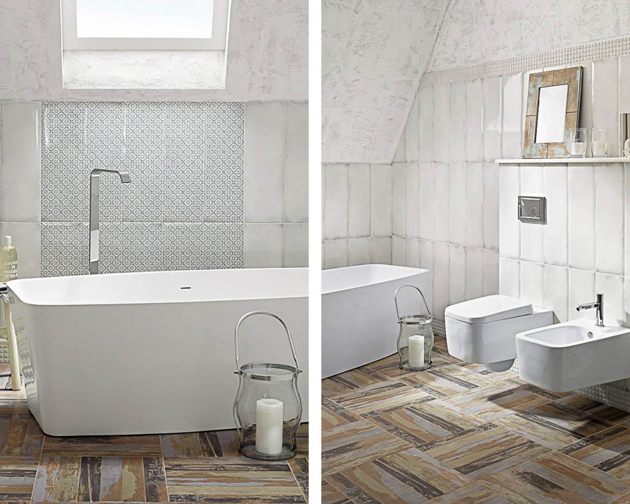 Aranżacja rustykalnej łazienki na poddaszu