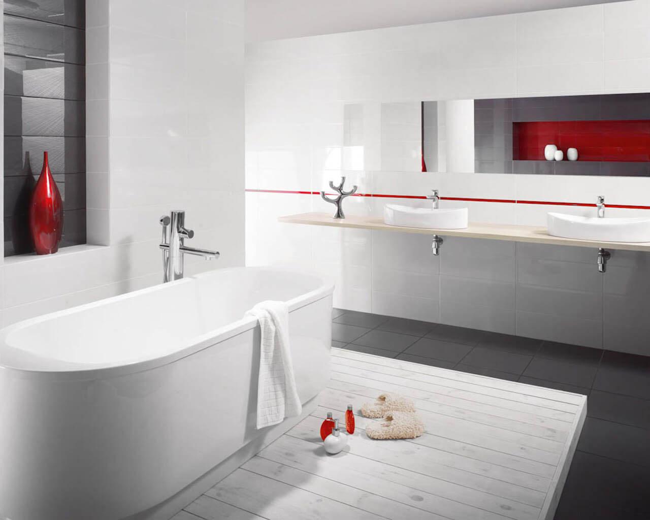 Czystość kompozycji minimalistycznej łazienki