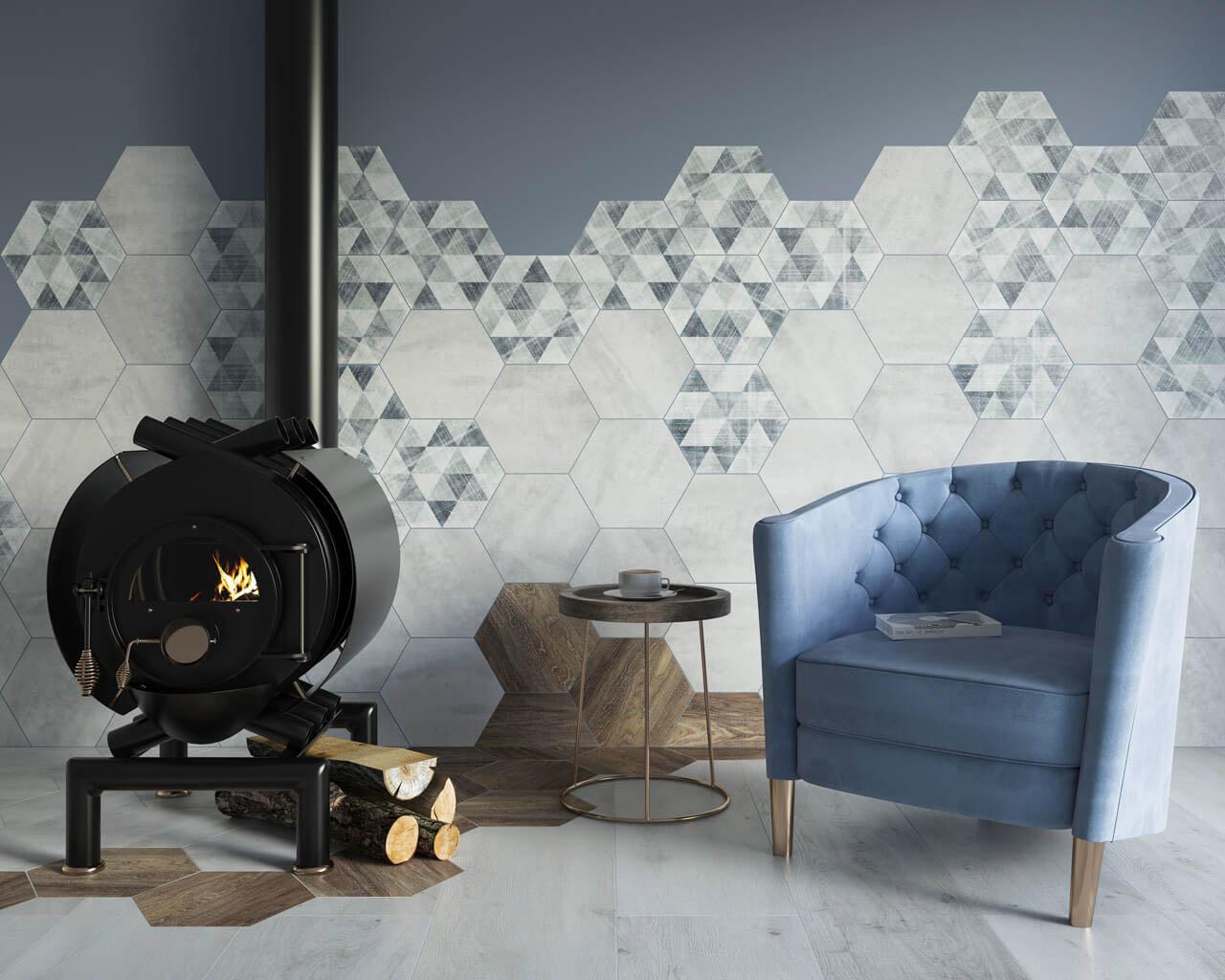 Modne szarości, brąz i geometria w nowoczesnym salonie