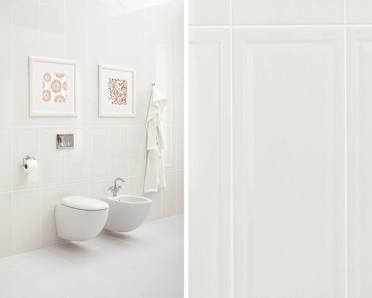 Biała strefa wc w nowoczesnej łazience