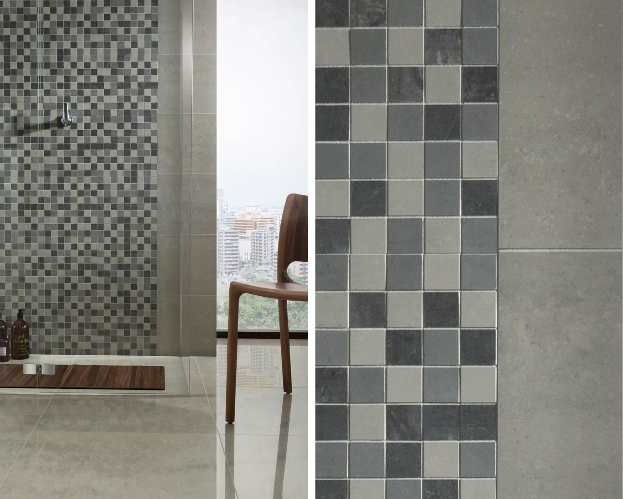 Mozaika w roli dekoratora minimalistycznej łazienki