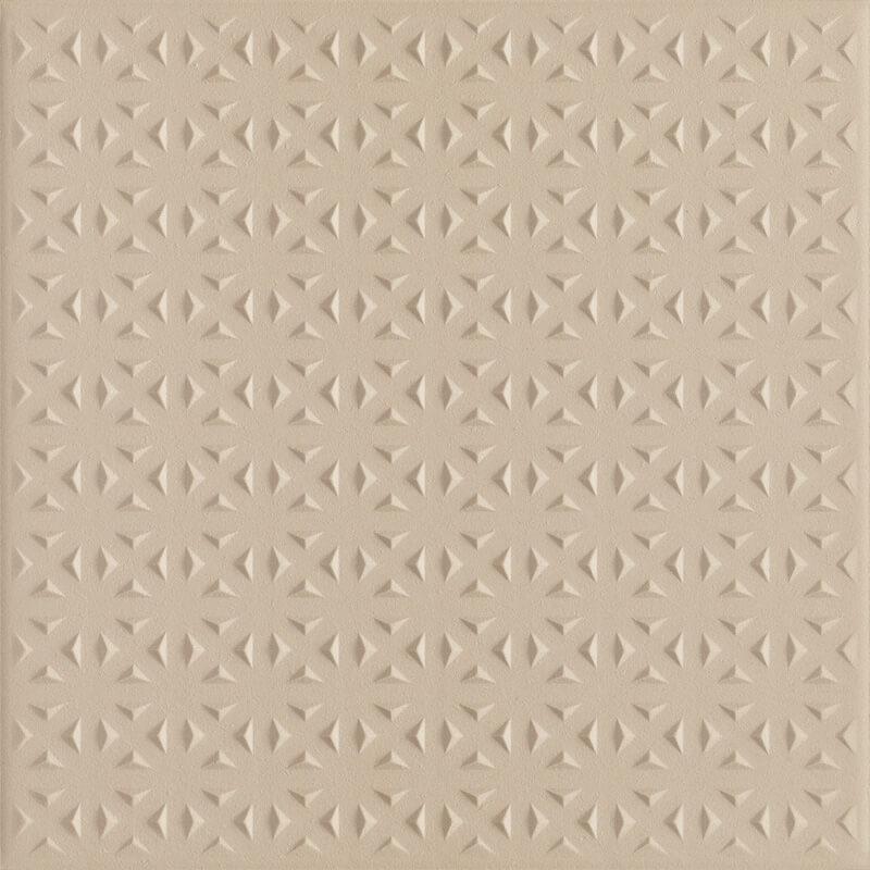 Bazo Beige Gres Monokolor Struktura - Beżowy - 198x198 - Floor tiles ...