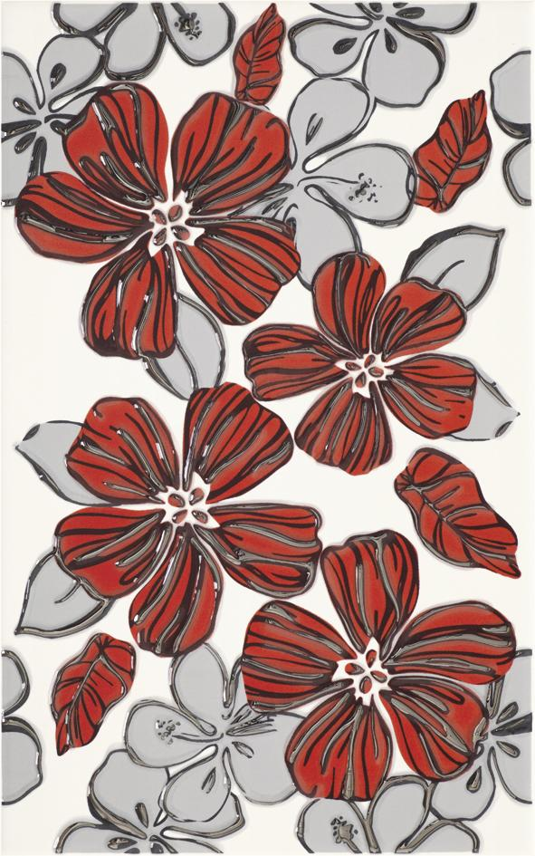 vivian rosa inserto kwiat r owy 250x400 wanddekorationen vivian purio ceramika paradyz. Black Bedroom Furniture Sets. Home Design Ideas