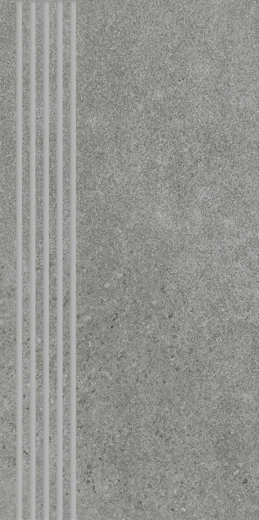 Optimal Antracite Stopnica Prosta Nacinana Mat.  - Czarny - 298x598 - Płytki podłogowe - Optimal
