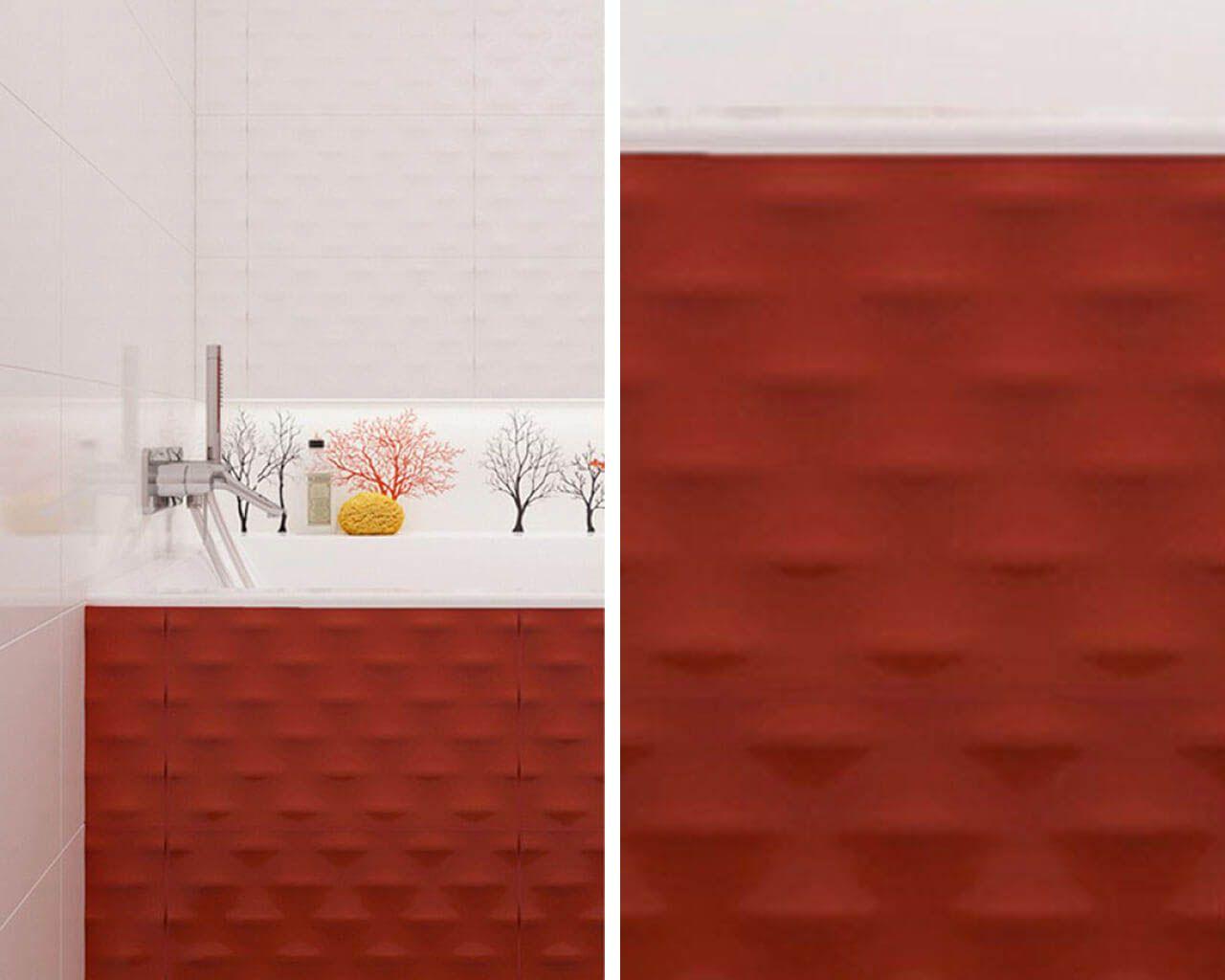 Veo Płytki Strukturalne Białe Szare Czerwone I Czarne