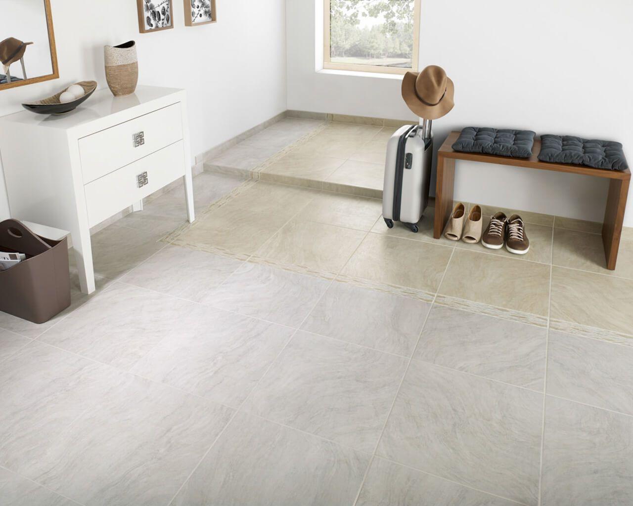 Wiser Grau Und Beige Fliesen Imitieren Stein Im Format 45x45cm Ceramika Paradyz