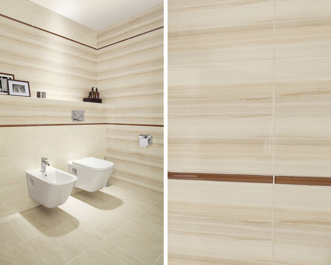 Coraline / Coral bathroom tiles – white and beige bathroom tiles ...