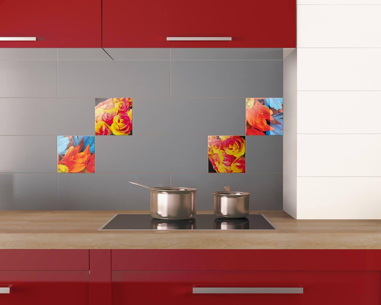 aranzacja-kuchni-z-kwiatowymi-dekoracjami-uniwersalne-dekoracje-szklane-20x20-ceramika-paradyz