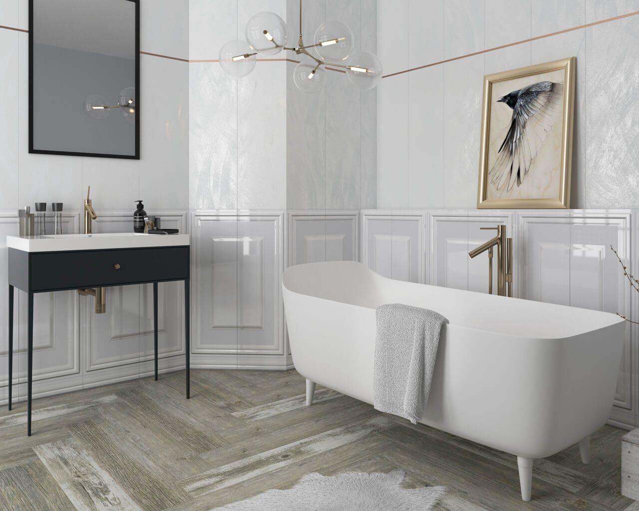 Classic Shiny Elegance In A White Bathroom Ceramika Paradyz