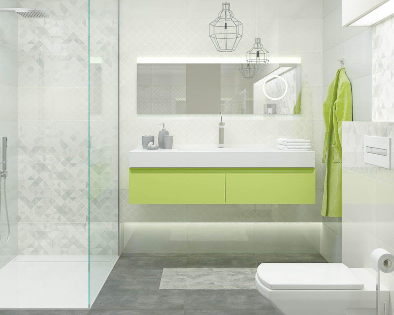 Small light grey bathroom in a minimalistic style | Ceramika Paradyz