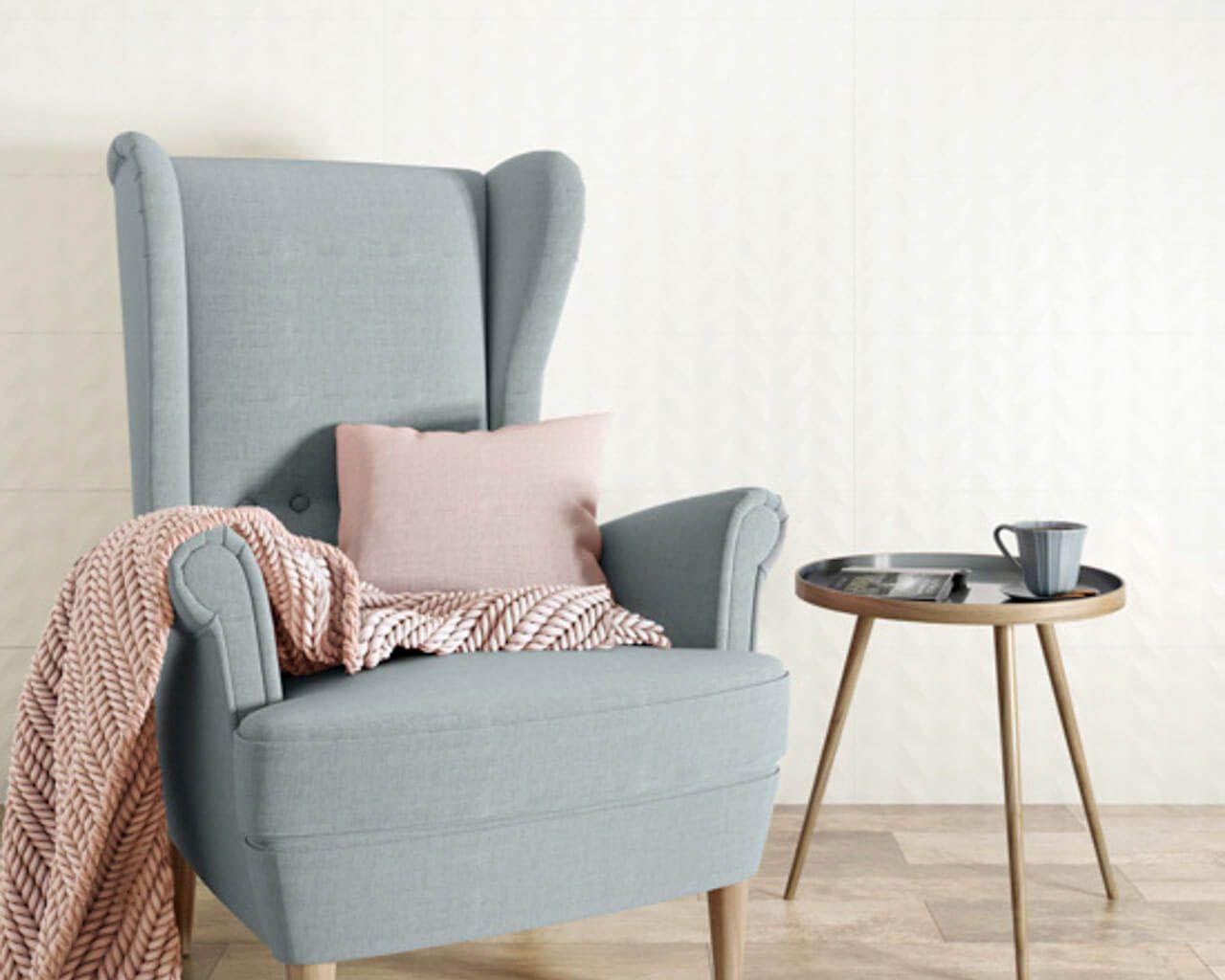 Subtiles, skandinavisches Schlafzimmer mit Bad | Ceramika Paradyz