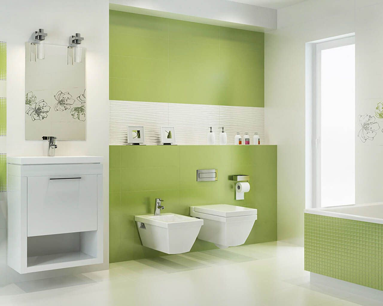 Paint Color For Beige Tile In Bathroom