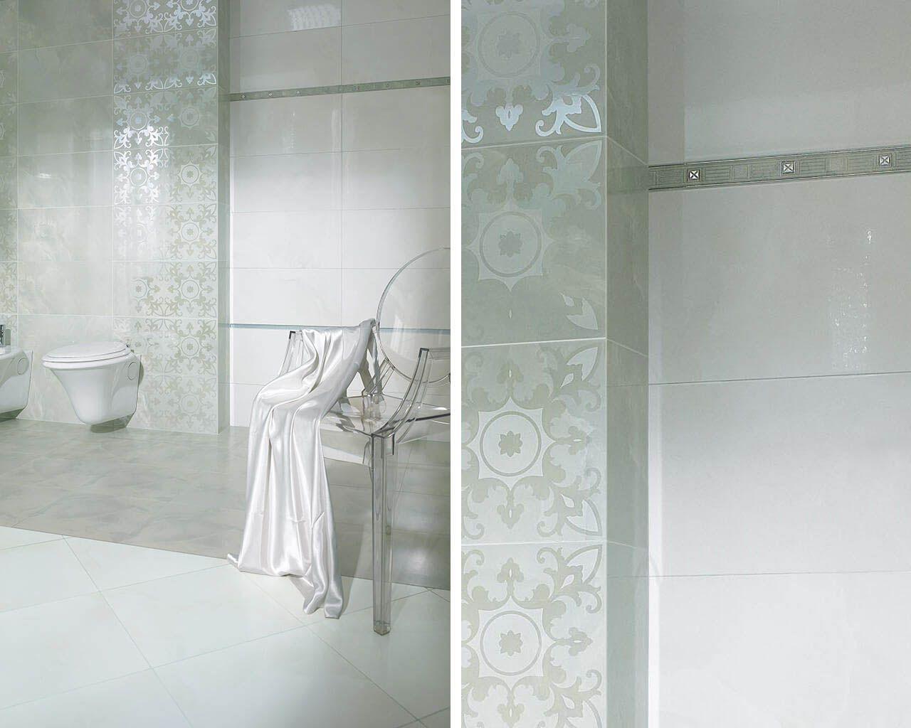 Lustrzany Blask łazienki W Stylu Glamour Ceramika Paradyż