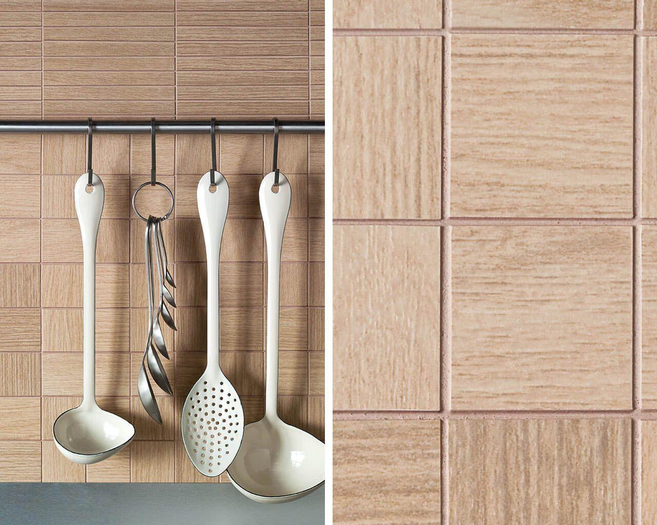 Drewniana Mozaika Ceramiczna W Kuchni Ceramika Paradyż