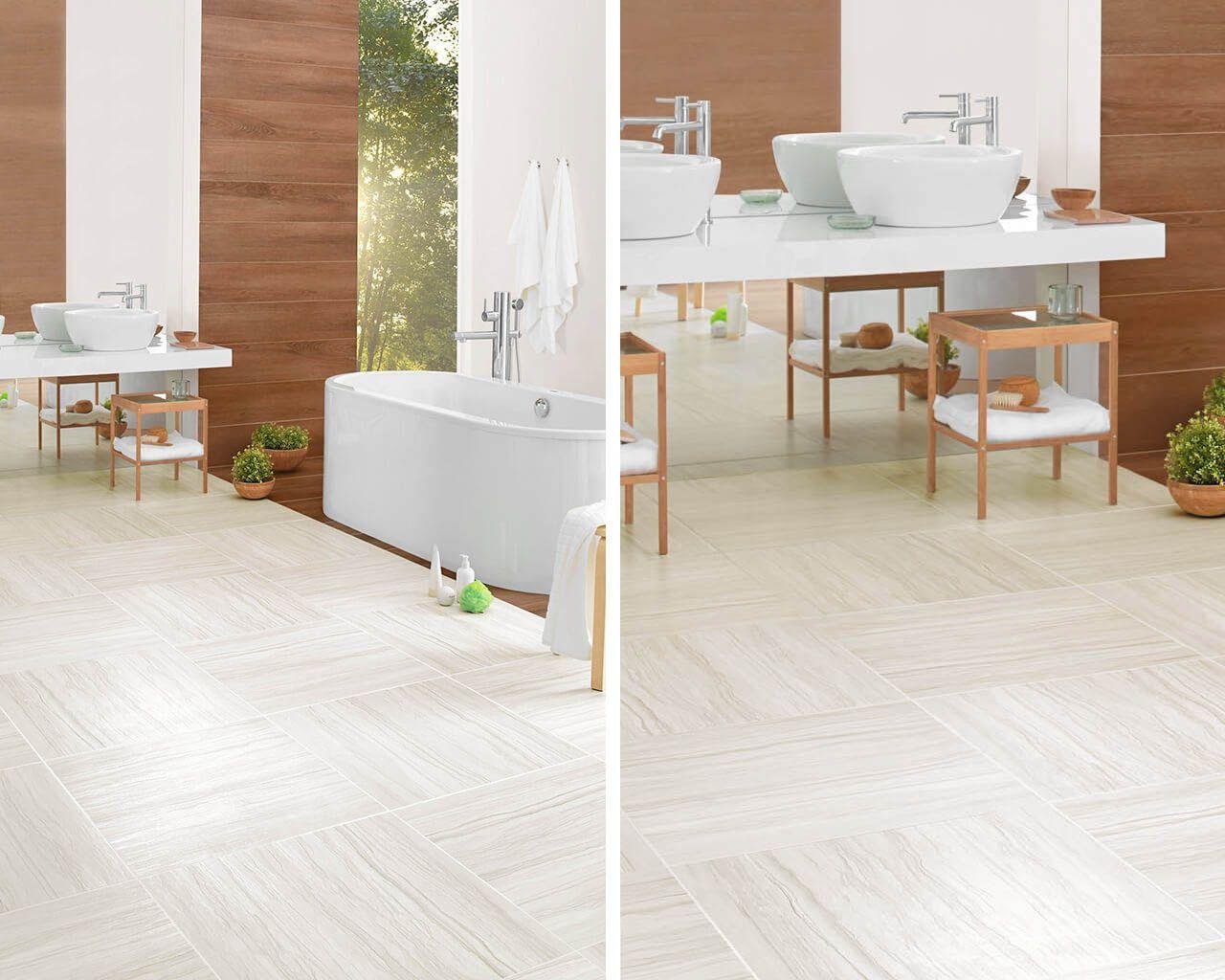 Weißer, Steinerner Fußboden Im Modernen Bad