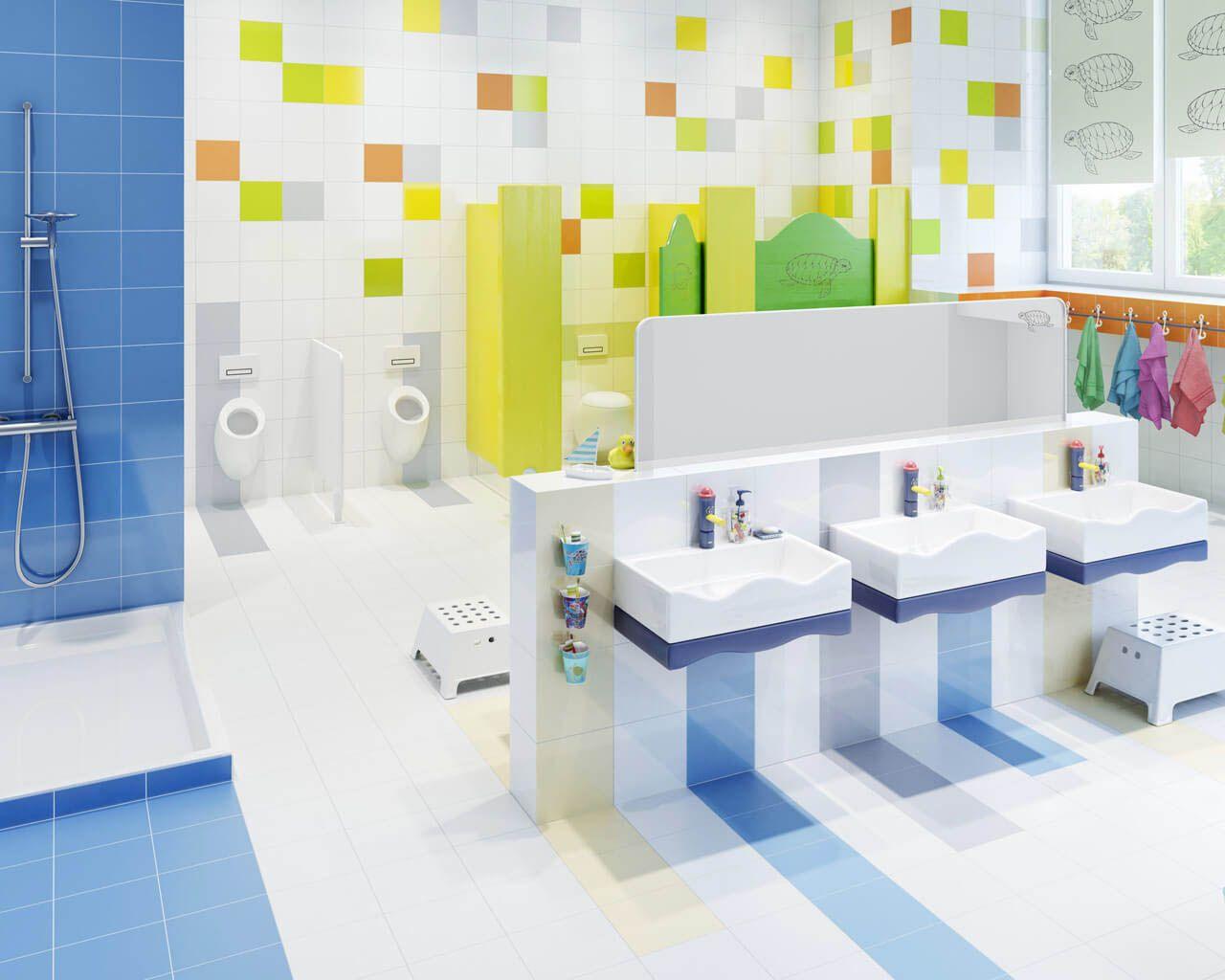 Pre-school bathroom full of colours and joy   Ceramika Paradyz