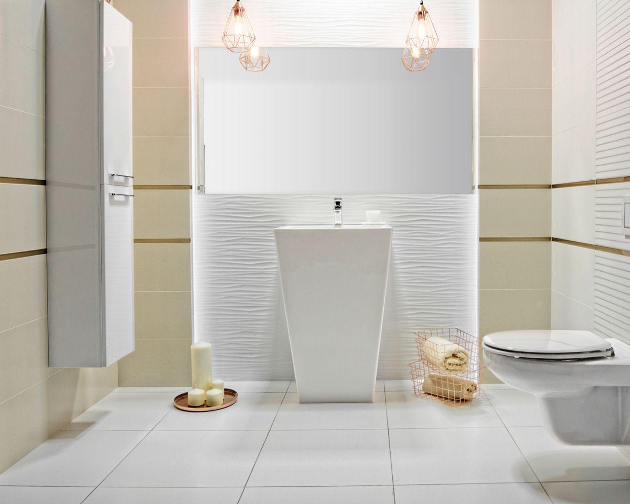 Zabawy Strukturą W Minimalistycznej łazience Ceramika Paradyż