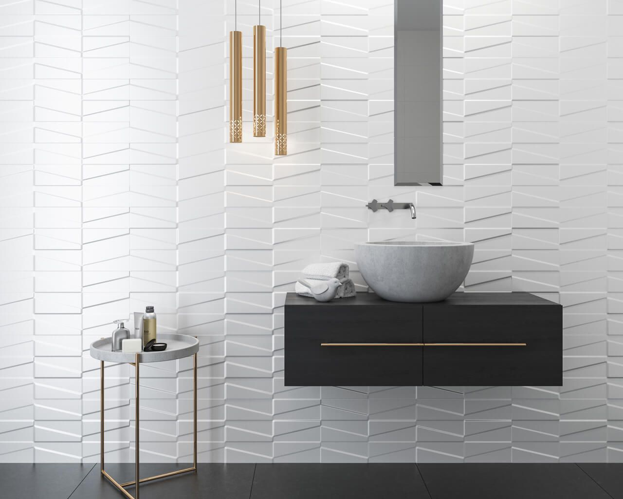 Modern Classic In A White Bathroom Ceramika Paradyz