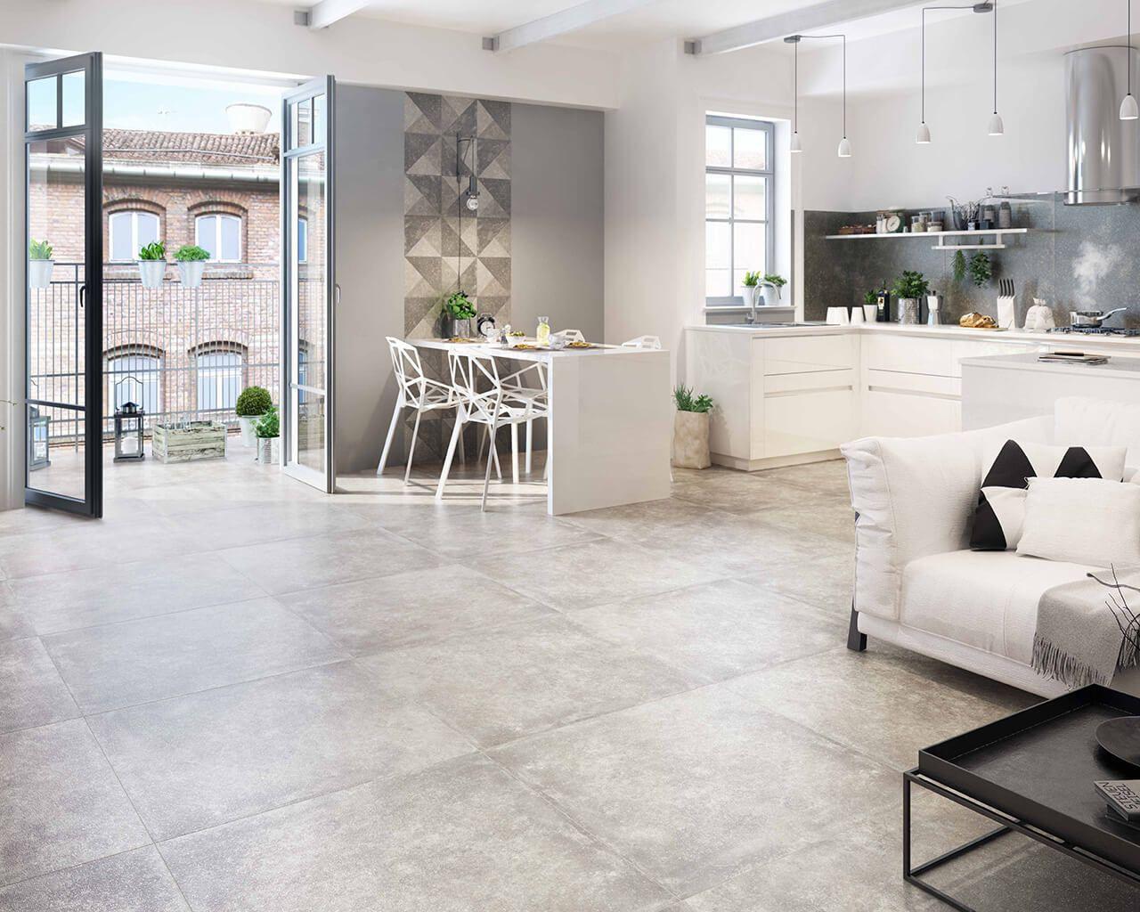interessanter industreiller bereich eine verbindung zwischen salon k che und esszimmer. Black Bedroom Furniture Sets. Home Design Ideas