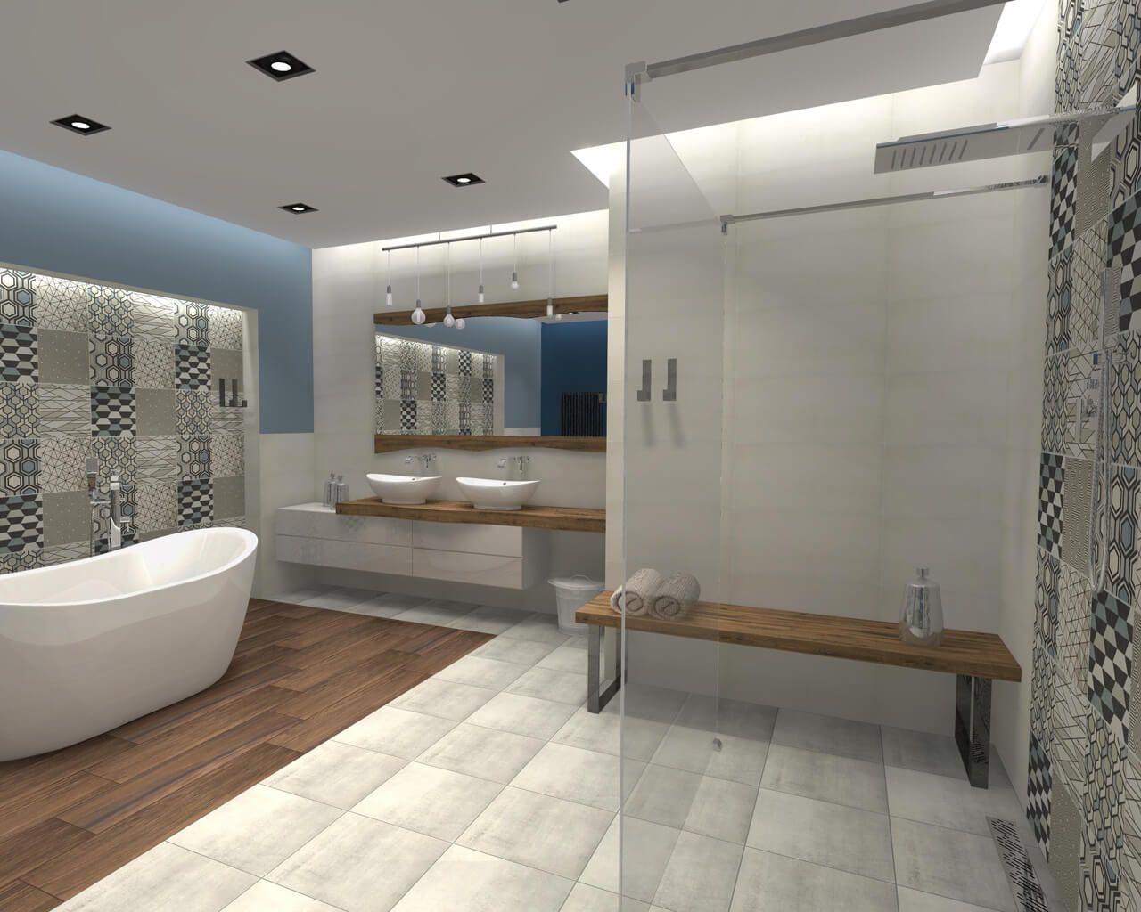 Prysznic Otwarty Na łazienkę Walk In Shower Ceramika Paradyż