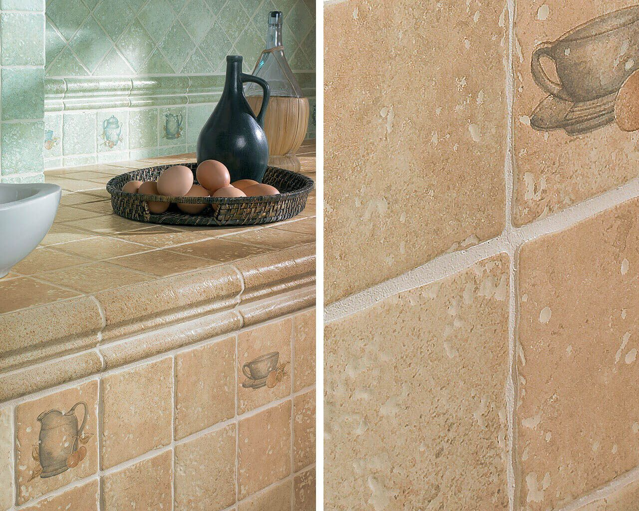 Traditional Tiles With Irregular Edges And A Distinct