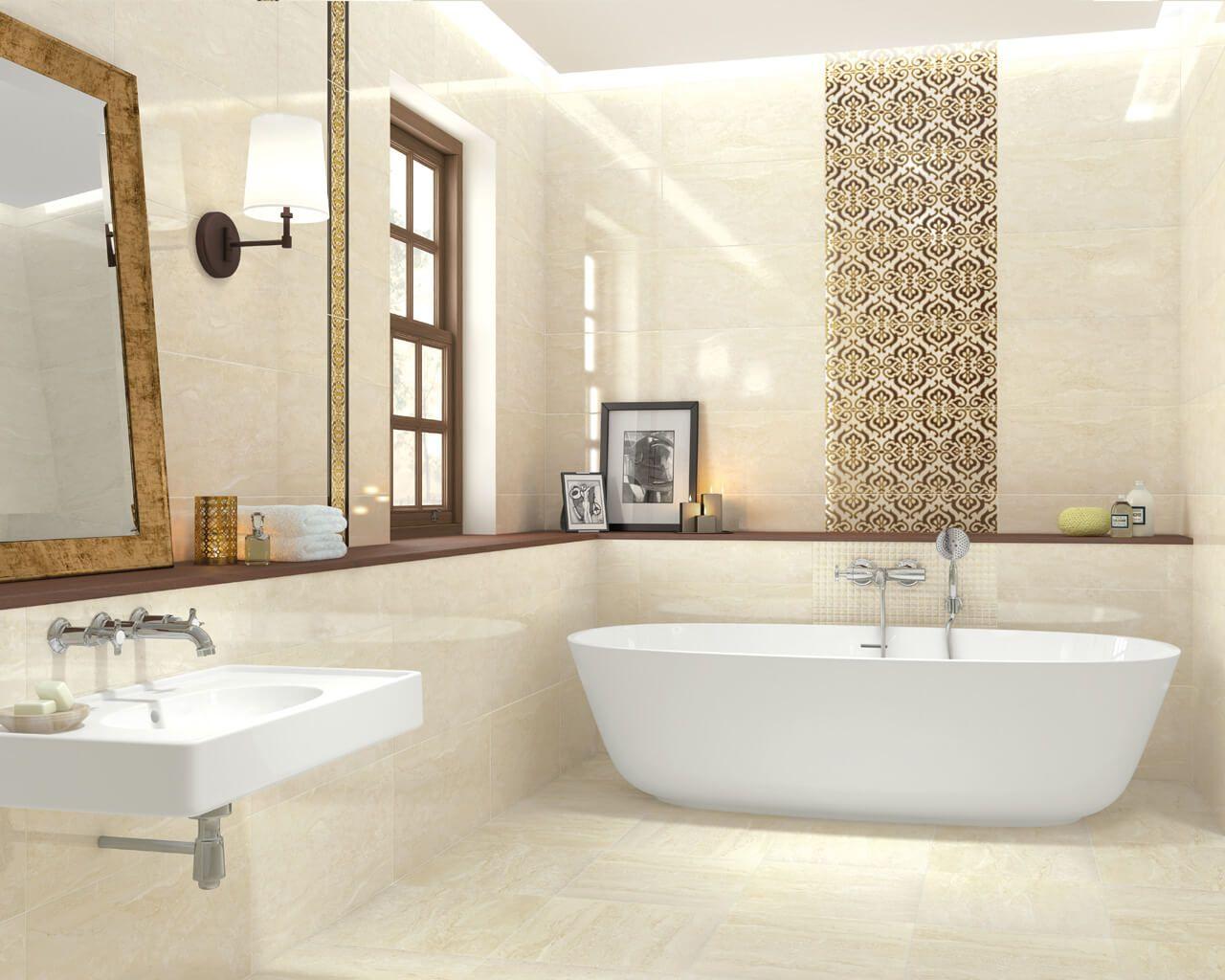 Przestronna łazienka W Stylu Tradycyjnym Z Wolno Stojącą