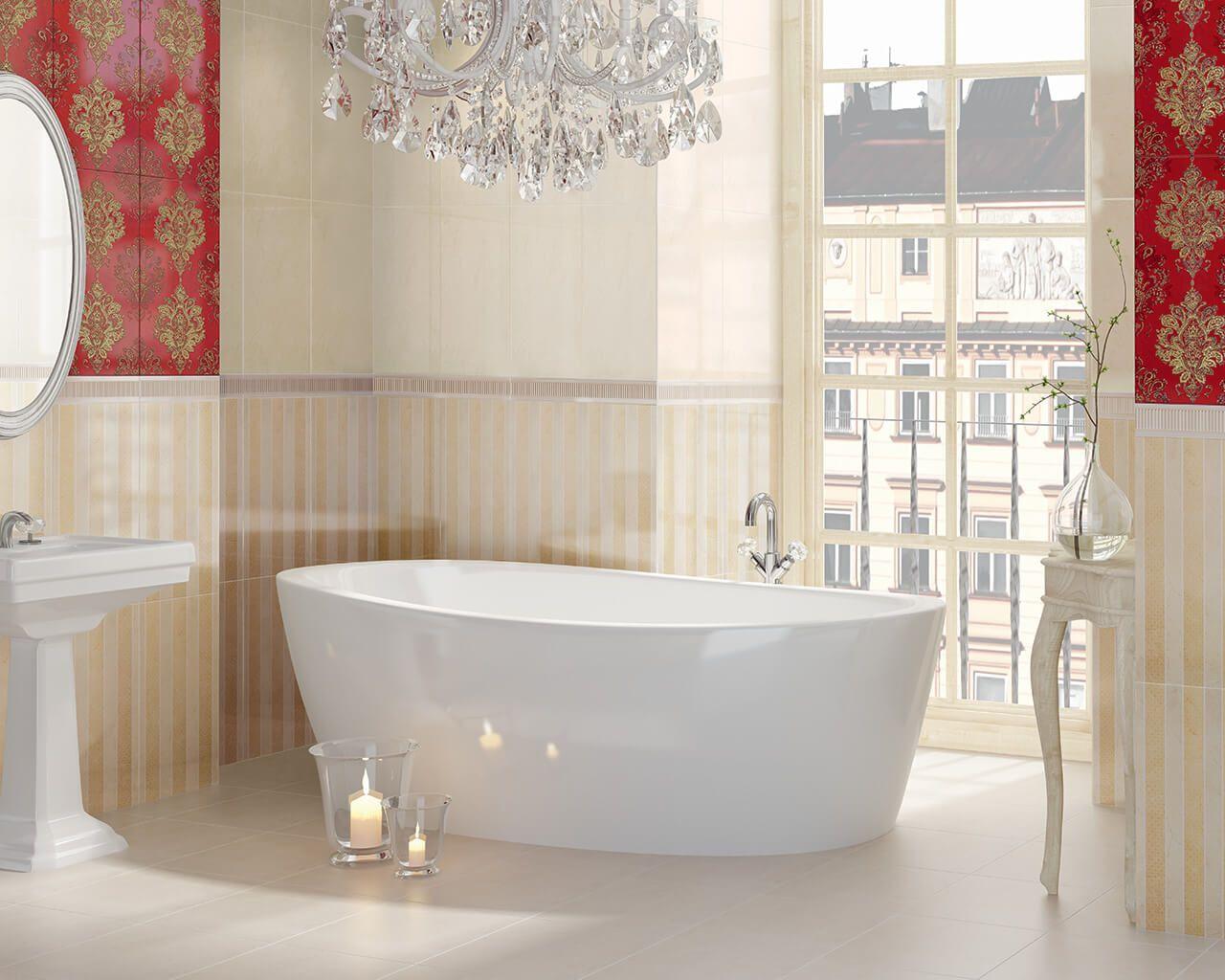 Czerwień Złoto I Blask Esencja Stylu Glamour W łazience