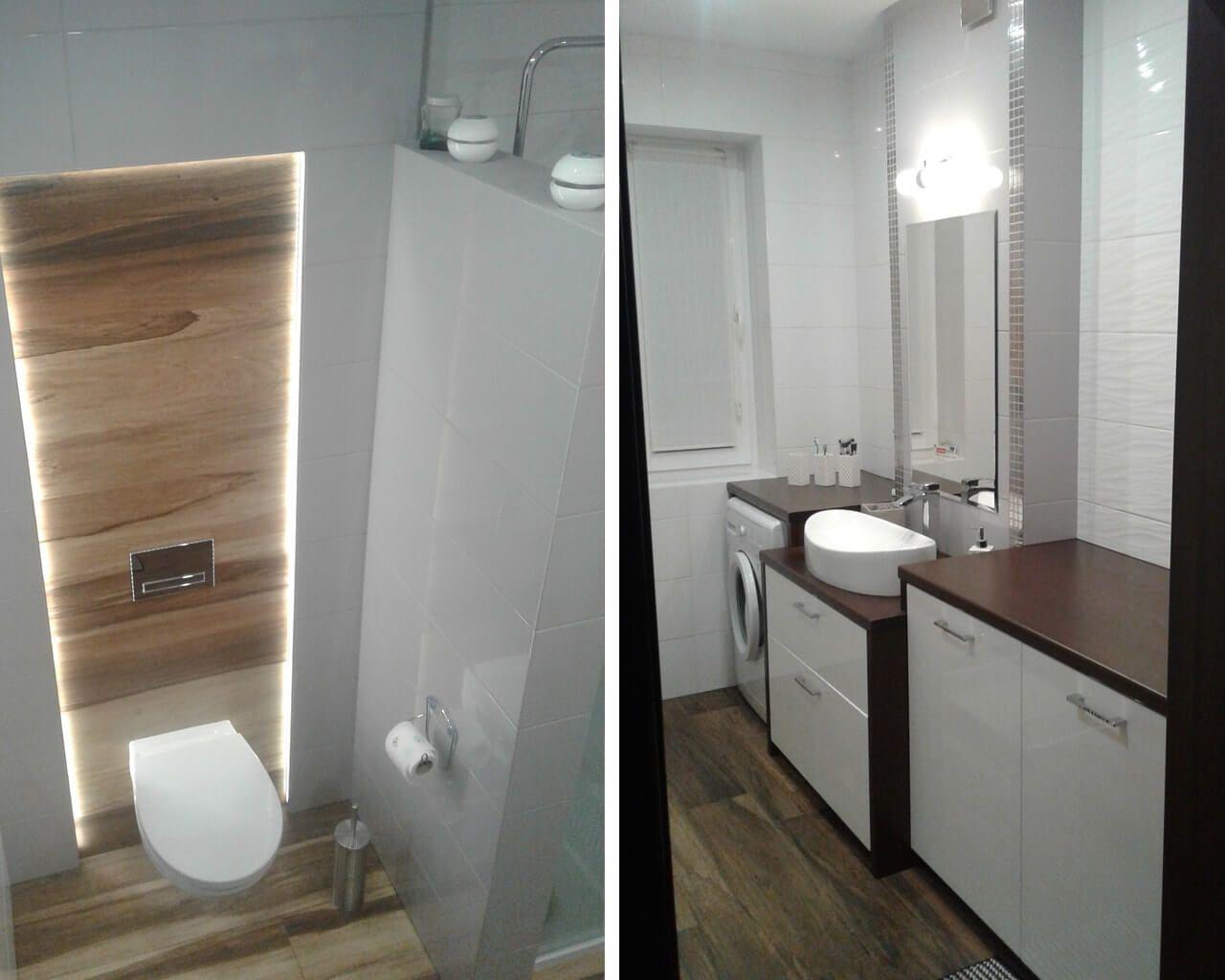 Biel I Drewno W łazience Ceramika Paradyż
