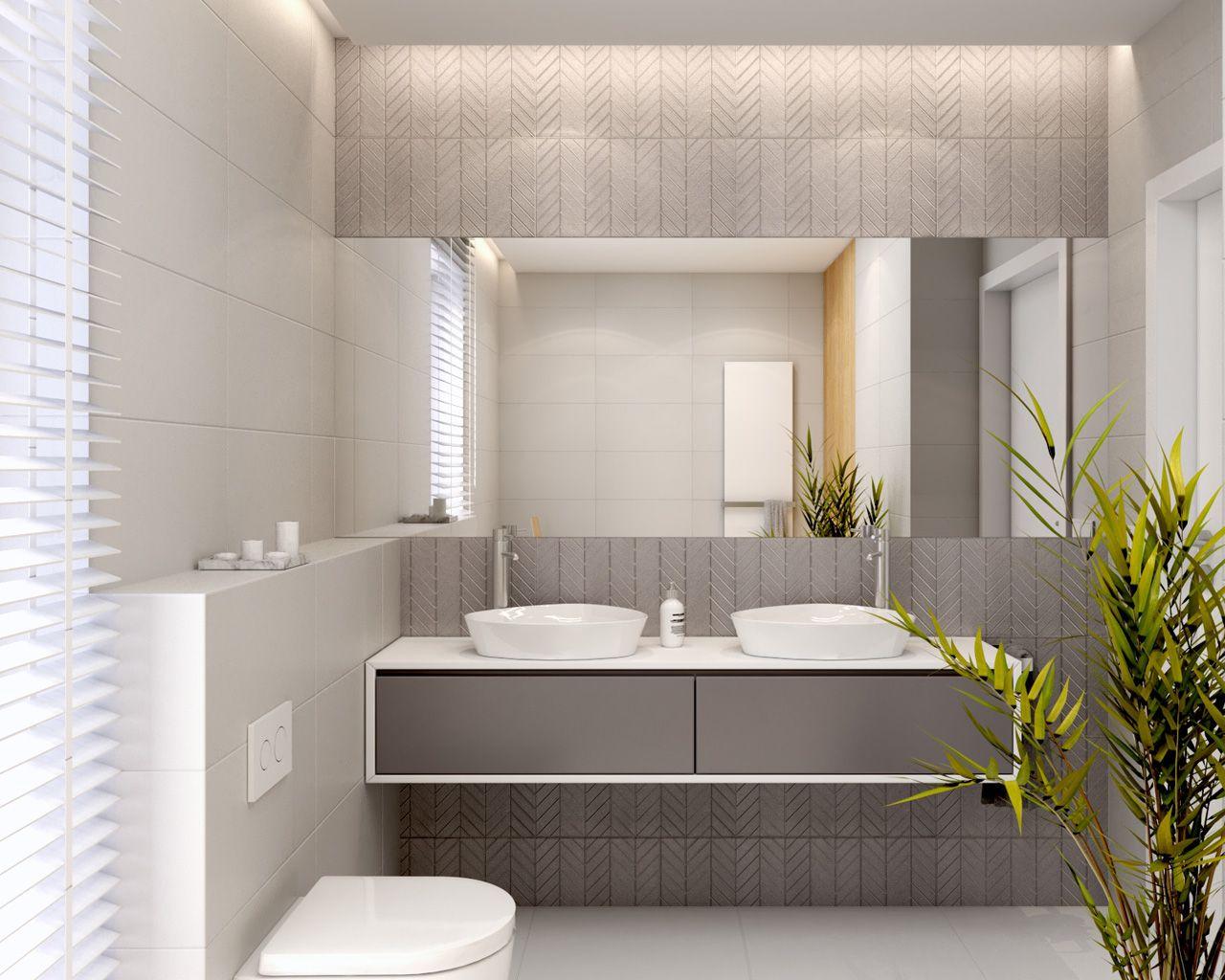 Jasna łazienka Zaaranżowana W Nowoczesnym Stylu Ceramika