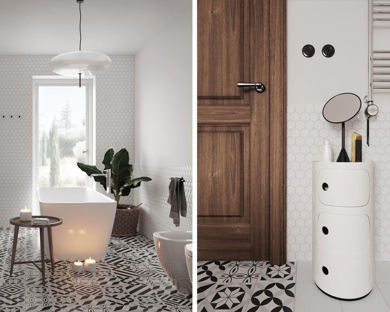 Projekt Wyjątkowej łazienki W Stylu Retro Ceramika Paradyż