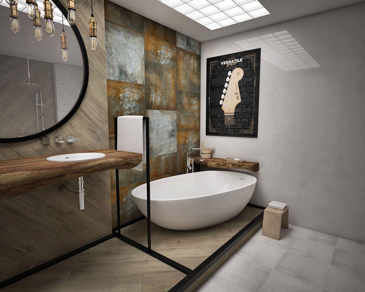 Projekt Wyjątkowej I Oryginalnej Industrialnej łazienki