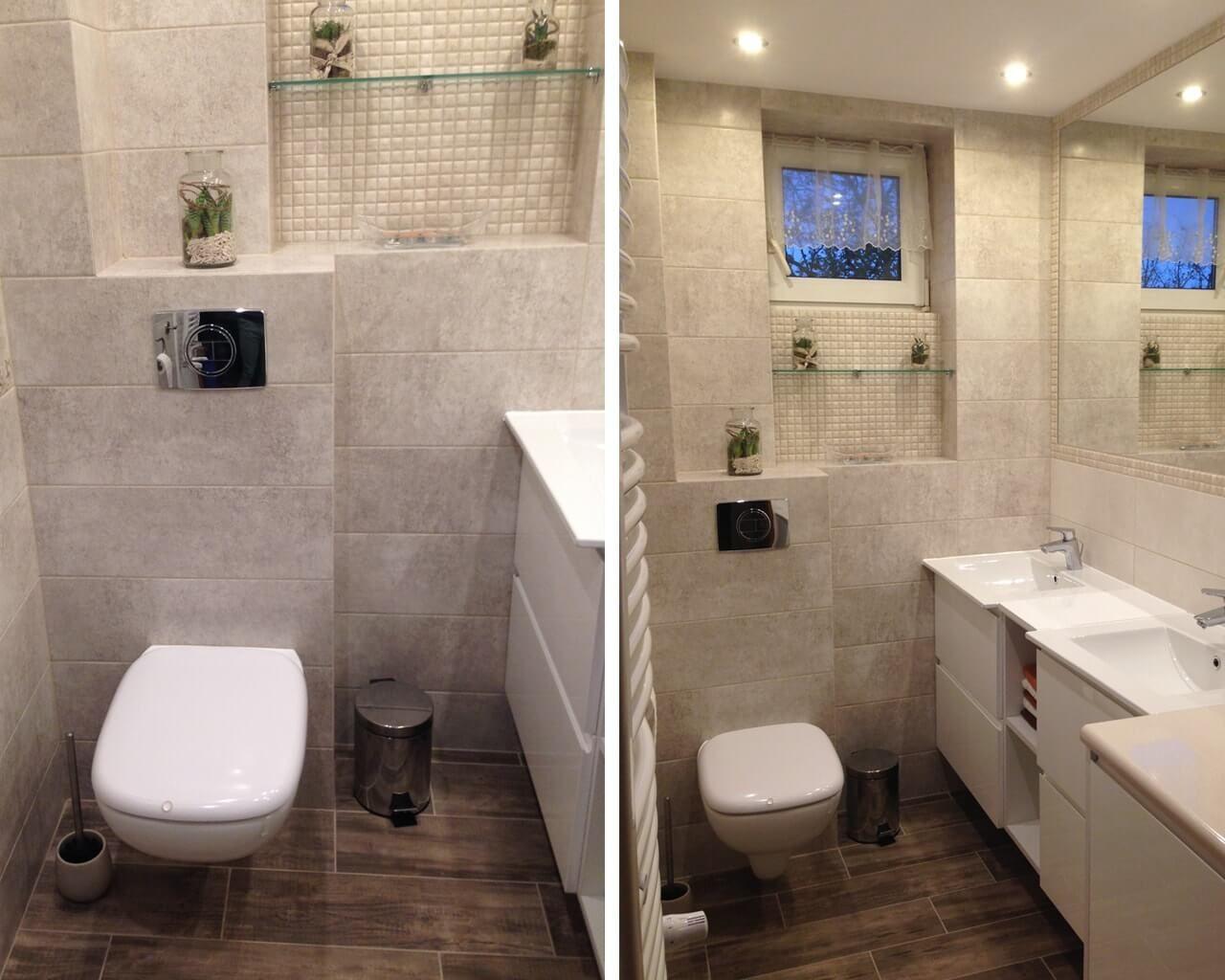 Mała Jasna łazienka Z Mozaiką Ceramika Paradyż