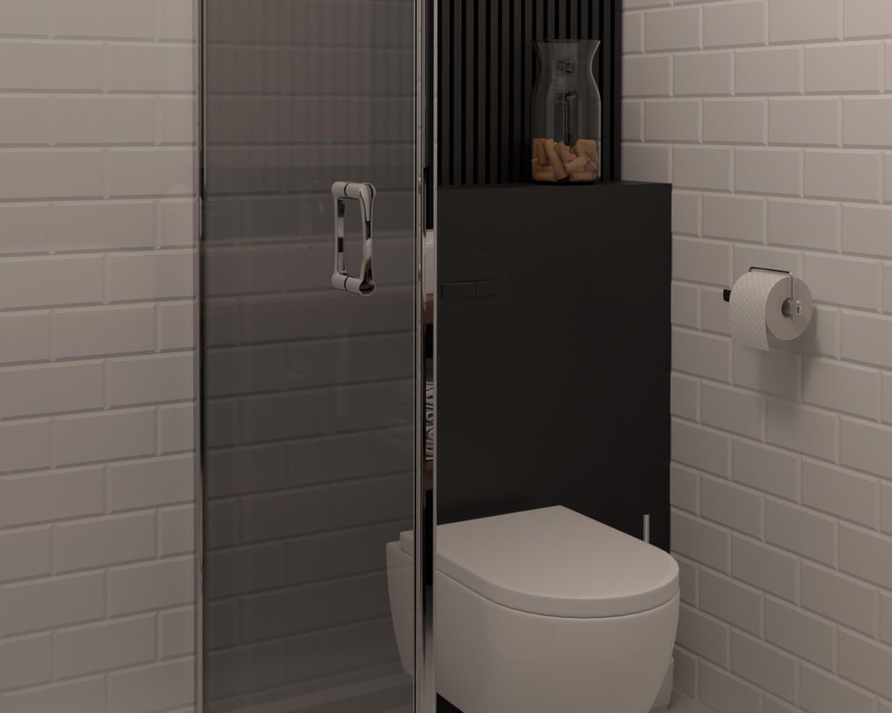 Mała łazienka W Bieli I Czerni Ceramika Paradyż