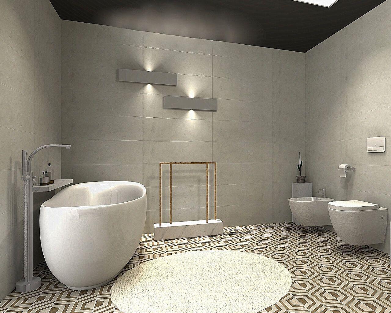 Duża I Wygodna łazienka W Parterowym Domu Ceramika Paradyż