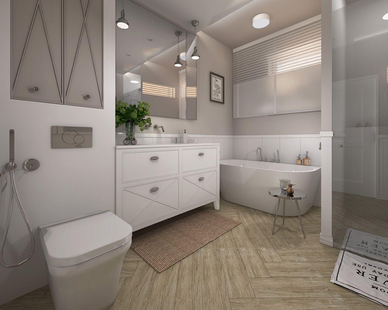 Styl Modern Classic W Klasycznej łazience Ceramika Paradyż