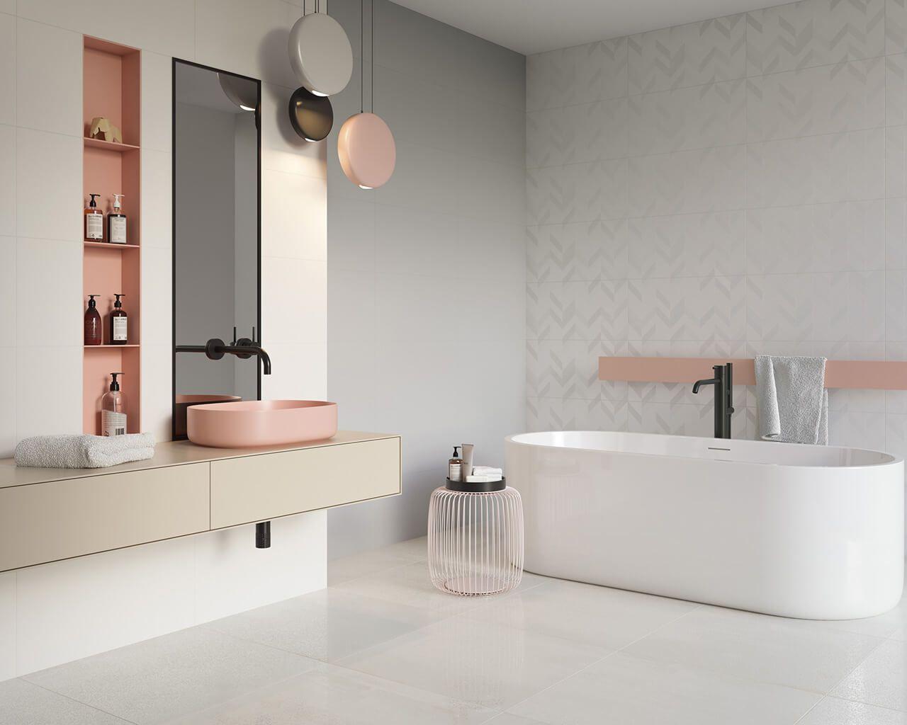 Ein Helles Badezimmer In Zuckersussen Farben Ceramika Paradyz