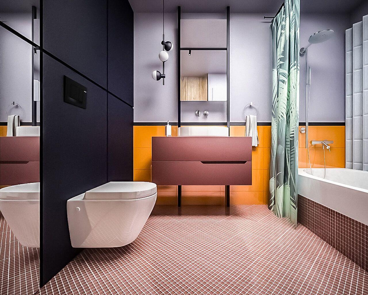 Modna łazienka Z Motywem Liści Ceramika Paradyż