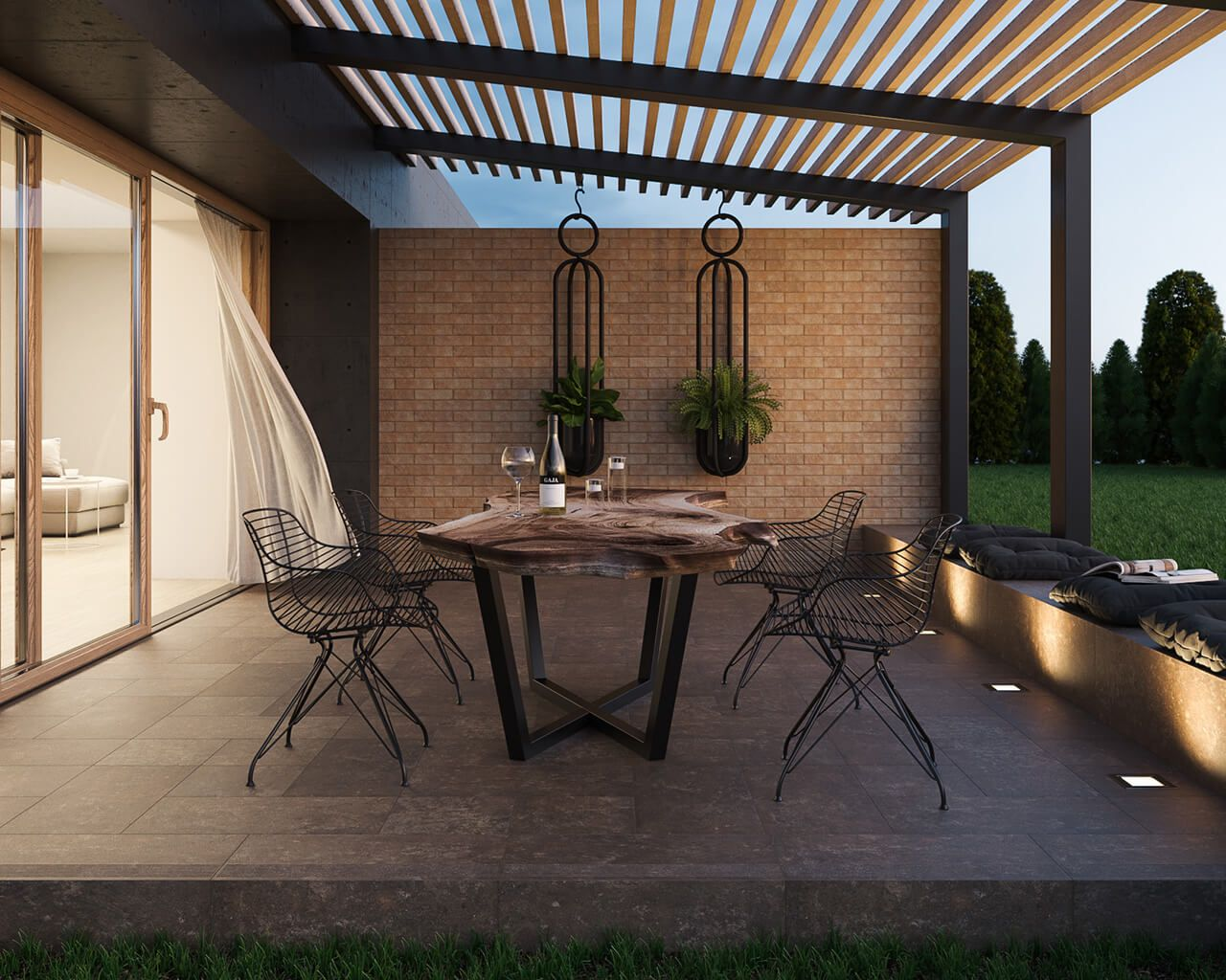 Cosy And Modern Brick Terrace Ceramika Paradyz