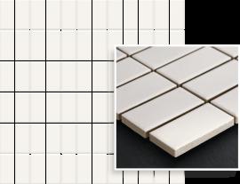 Albir Bianco Mozaika Prasowana K.2,3X4,8  - Biały - 298x298 - Mozaiki - Altea / Albir