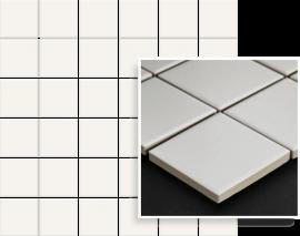Albir Bianco Mozaika Prasowana K.4,8X4,8  - Biały - 298x298 - Mozaiki - Altea / Albir