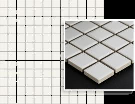Albir Bianco Mozaika Prasowana K.2,3X2,3  - Biały - 298x298 - Mosaike - Altea / Albir