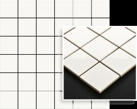 Altea Bianco Mozaika Prasowana K.4,8X4,8  - Biały - 298x298 - Mosaike - Altea / Albir