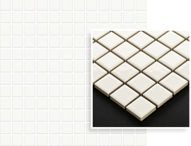 Altea Bianco Mozaika Prasowana K.2,3X2,3  - Biały - 298x298 - Elevation tiles - Altea / Albir