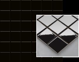 Altea Nero Mozaika Prasowana K.4,8X4,8  - Czarny - 298x298 - настенные плитки - Altea / Albir