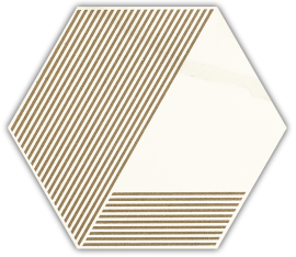Calacatta Hexagon Mat. A  - Wielokolorowe - 171x198 - Dekorationen - Calacatta
