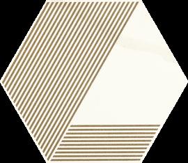 Calacatta Hexagon Mat. A  - Wielokolorowe - 171x198 - Calacatta