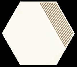 Calacatta Hexagon Mat. B   - Wielokolorowe - 171x198 - Dekorationen - Calacatta