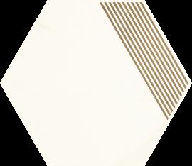 Calacatta Hexagon Mat. B   - Wielokolorowe - 171x198 - Dekoracje - Calacatta